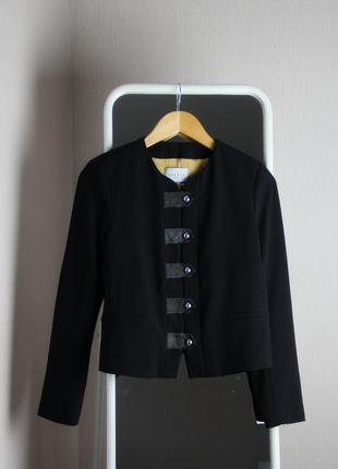 Пиджак,жакет sandro paris vinnie leather tab jacket