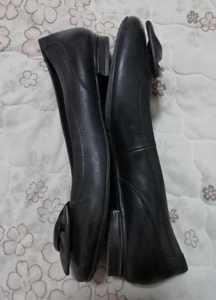 Туфли балетки кожаные tamaris 42 размер стелька 27.5см