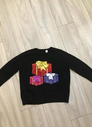 Новогодний свитер h&m