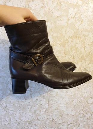 Стильные ботинки боты ботильоны деми кожа