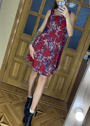 Платье new look бабочки 12 р.