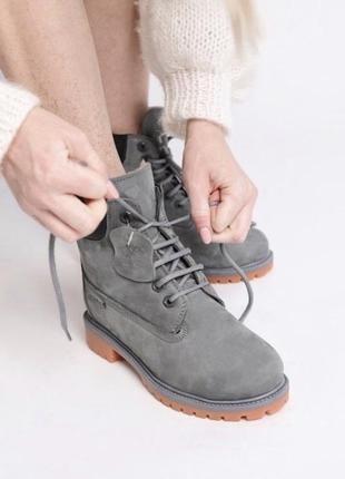 Зимние timberland premium 6in grey