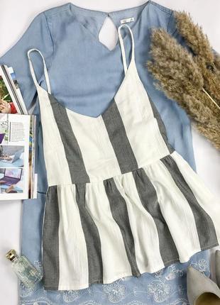 Блуза на тонких бретелях с рюшей и отличным составом  mk 1952090