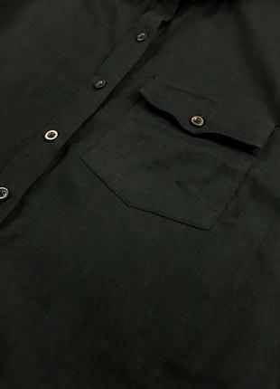 Удлиненная рубашка черного цвета из натурального хлопка bl 1952085  atmosphere2 фото