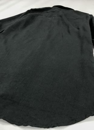 Удлиненная рубашка черного цвета из натурального хлопка bl 1952085  atmosphere3 фото