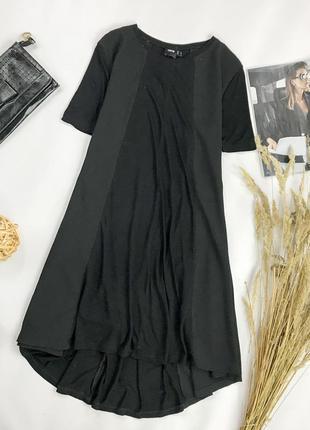 Платье а-сиуэта, комбинированное из двух тканей dr 1952084  asos
