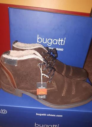 Зимние замшевые ботинки bugatti 45