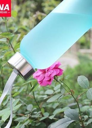 Бутылка матовая спорт отдых голубая