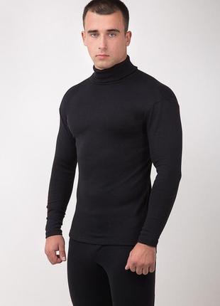 Водолазка мужская рибана начёс цвет черный
