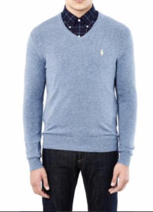 Пуловер шерстяной мужской стильный модный ориг инал ralph lauren размер m/l