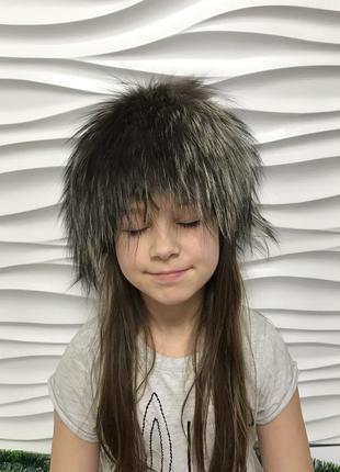 Идеальная шапка мех чернобурки