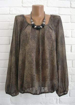 Красивая блуза из шифона низ на резинке dorothy perkins uk12 в идеальном состоянии