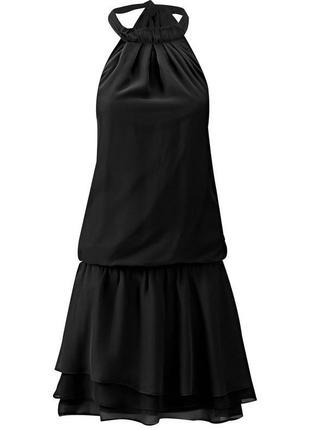 Черное вечернее платье в стиле 20 гг