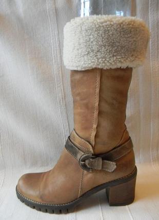 Зимние кожаные сапоги bata р.37 стелька 25-25,3 см