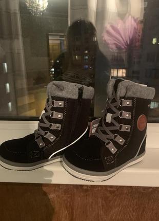 Зимние ботинки сапоги чёрные reima термо