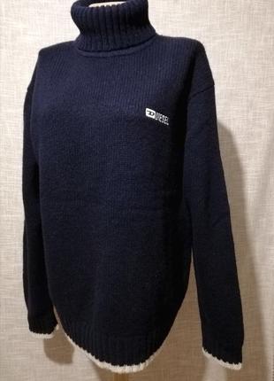 Шерстяной свитер, шерстяной гольф, джемпер. размер m-xl.