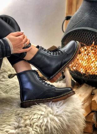 Dr. martens 1460 black шикарные женские ботинки мартинс чёрные