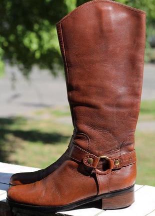 Изумительные и роскошные кожаные сапоги marc o'polo разм 40-41