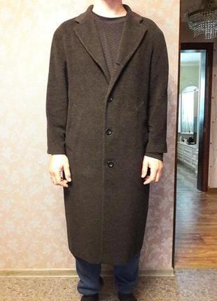 Пальто кашемировое чёрное