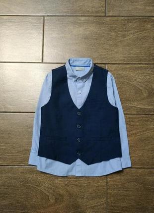 Комплект # рубашка # жилетка
