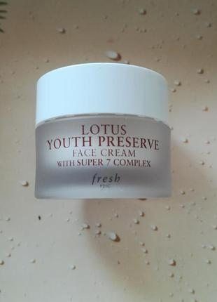 Крем fresh lotus youth preserve face cream 7мл.