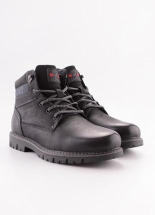 Стильные мужские ботинки зимние на шнурках шнуровке зима