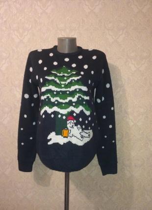 Новогодний свитер со светящейся ёлкой merri christmas