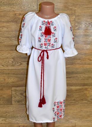 Вишиванка вышиванка сукня з вишивкою для дівчинки 11-12 років