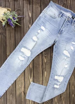 Мужские рваные джинсы h&m 34/30