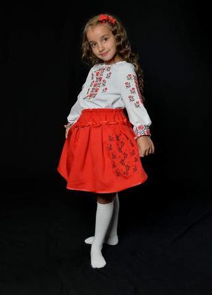 Вишиванка вышиванка костюм с вышивкой для девочки 10-11 лет