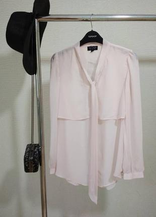 Блуза нежного цвета розовой пудры topshop р.6/34-36
