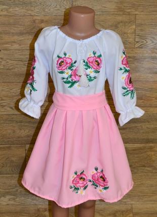 Вишиванка вышиванка платье с вышивкой 5-7 лет