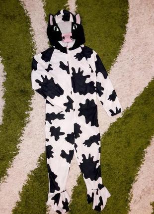 """Легка піжама кігурумі з хвостом """"корівка"""", 110 розмір"""