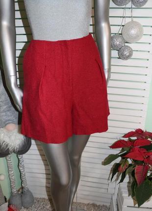#розвантажуюся шерстяные красные шорты h&m
