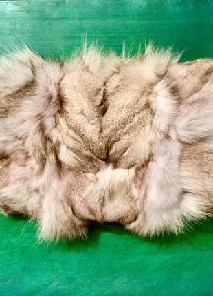 Тёплая муфта из меха скандинавской лисы!!