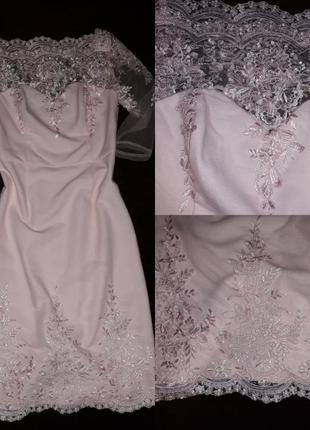 Роскошное платье можно как свадебное2 фото