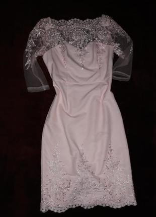 Роскошное платье можно как свадебное3 фото