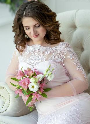 Роскошное платье можно как свадебное1 фото