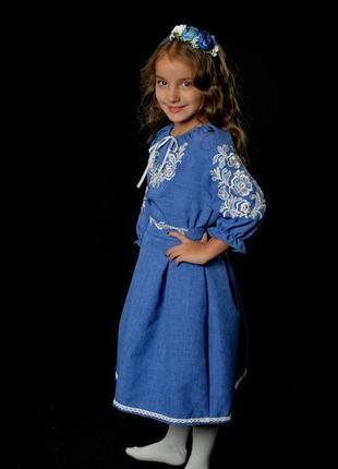 Вишиванка вышиванка платье с вышивкой для девочки 7-8 лет