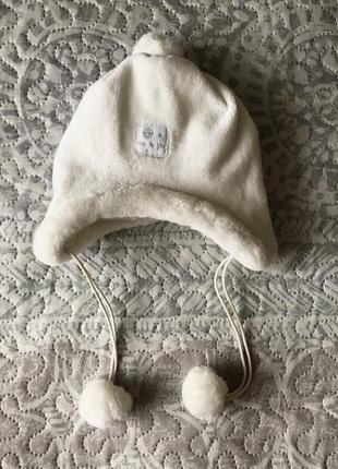 Шапка шапочка для новорожденного для младенца 0-3мес