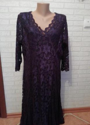 Платье гипюровое батал