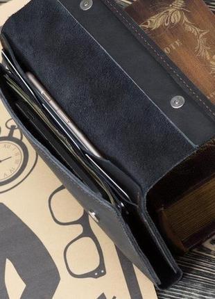 Портмоне, гаманець, клатч шкіряний  ручної роботи, натуральна шкіра, на кнопці
