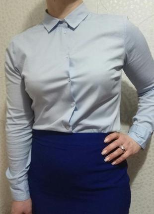 Женская офисная рубашка zara