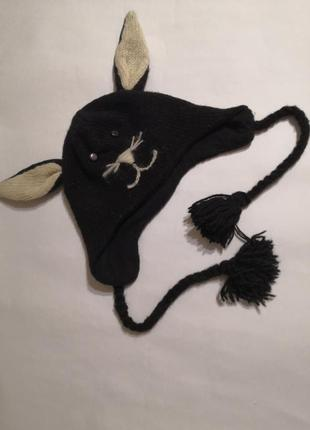 Тёплая шапуля для девочки