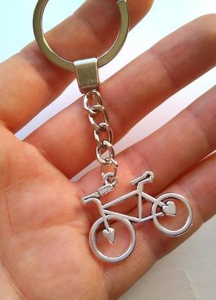 Новый стильный винтажный брелок велосипед с большим кольцом, подвеска для ключей