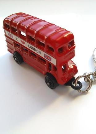 Новый крутой красный брелок лондонский двух этажный автобус винтаж, подвеска для ключей