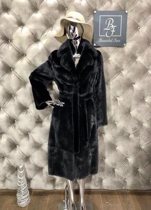 Норковая шуба manzari, blackglama, 110 см, 44/46, халат