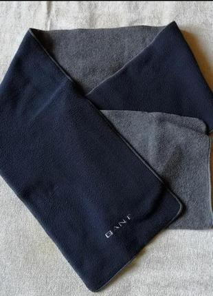 Флисовый мужской двухсторонний шарф gant