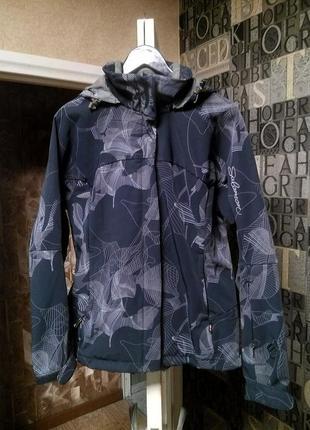 Salomon трекинговая куртка софтшел утепленная лыжная горнолыжная