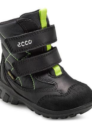 Зимние сапожки ecco сапоги детские ботинки gore-tex 20 размер чоботи зимові чобітки